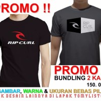 Harga best seller kaos promo bundling buy 1 get 1 t shirt ripcurl surfing | Pembandingharga.com