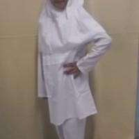 Baju Muslim Anak Baju Muslim Setelan Anak Perempuan Warna Putih 4,