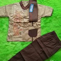 Baju Muslim Anak STELAN KOKO ANAK BAHAN DANNIS MURAH...