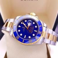 Jam Tangan Pria Mewah Rolex Submariner Two Tone Blue Dial