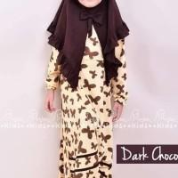 Terbaru MiuLan Baju Muslim Dress Gamis Pakaian Anak Free Jilbab FUNNIA
