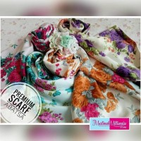 Terbaru Hijab Jilbab Kerudung Scarf Segi Empat Premium Maxmara Cantik