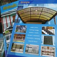 Buku katalog tralis pintu balkon tangga minimalis dan tempa isi 2 buku