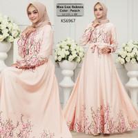 Busana muslimah/ jubah/ gamis/ Baju Muslim KS6967 maxmara premium
