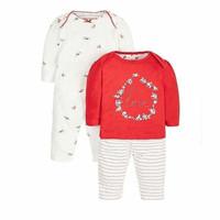Mothercare 2 Pack Piyama Birdie Red Original Baju Tidur Anak Bayi