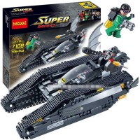 Jual Brick DECOOL 7108 Bat Tank Batman Tumbler Super Heroes bukan LEGO 7787 Murah