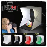 Mini Photo Studio LED Lighting Tent Kit Portable Folding Light Box 4pc