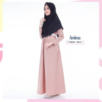 Gamis/Baju Muslimah , Farra Dress Original BY AMIMA Size L - Milo