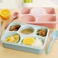 Lunch Box Yooyee sekat 5 / Lunchbox kotak makan anti tumpah (393)