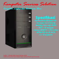 [Baru] Komputer/PC Rakitan Core i3 + HDD 1TB + Monitor