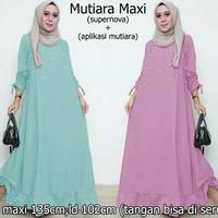 Jual Gamis maxi dress baju muslimah muslim maxy terusan pesta xl jumbo big Murah