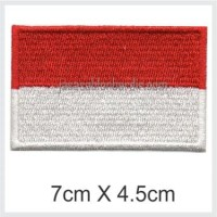 Emblem Badge Bordir Bendera Indonesia 7cm X 4.5cm