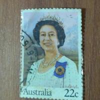 Perangko Kuno Australia Queen Elizabeth II 22c Best Seller Diskon Sale