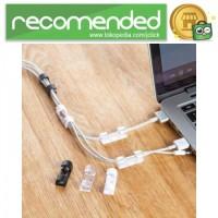 Klip Kabel Organizer Cable Clip 20PCS - Hitam
