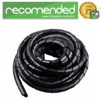 Spiral Pembungkus Kabel Listrik/Selang - Hitam - 12MM x 5.5M