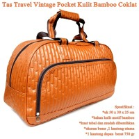 Tas Travel Vintage Pocket Kulit coklat