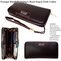 DOMPET PRIA BOAIS WALLET LEATHER FULL BLACK