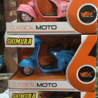 TERMURAH DIE CAST CLASSICAL MOTOR VESPA MINI SET ISI 3 PCS