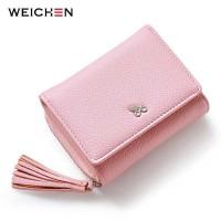 Dompet Wanita Clutch Zipper Coin Wallet - pink