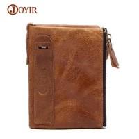 JOYIR Dompet Pria Crazy Horse Model Vintage Wallet - COKLAT