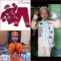 Jual Koko Anak Muslim KARTUN Baju Setelan Pakaian Gamis Anak Lucu MARUNO Murah