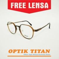 Harga frame kacamata minus baca pria wanita vintage clasic 1191 coklat | Pembandingharga.com