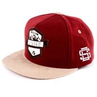 Topi Kasual Distro Pria  merah marun Gshop WRN 2128 murah ori original