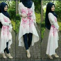 Baju setelan wanita muslim hijab Shafira harajuku