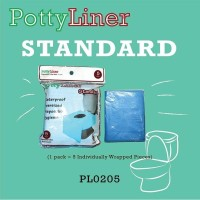 Potty Liner STANDARD Disposable Toilet Seat Covers