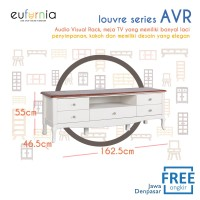 Olympic Louvre Series Audio Visual Rack / Meja Rak Tv / AVR