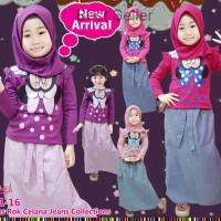 Jual Baju Setelan Muslim Anak Perempuan Kaos Pita