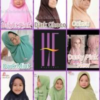 Spesial Miulan Bergo Jilbab Hijab Kerudung Anak Polos Serut Adem Plain