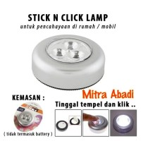 STICK N CLICK LAMP 3 Mata LED/Stick Touch Lamp/Lampu Tempel Emergency