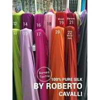 Kain Satin Roberto Cavalli /bahan gamis /furing kebaya /kain roberto