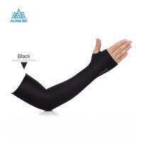 Aonijie 4039 Arm Sleeve - Manset kaos tangan Lari sepeda outdoor BLACK
