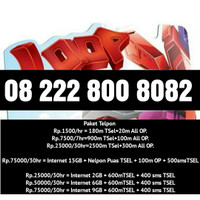 Jual Perdana Nomor Telkomsel simpati loop sakti 3 varian 222 888 800 80 82 Murah