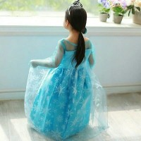 DRESS ANAK CEWEK Baju Dress Gaun Frozen Elsa
