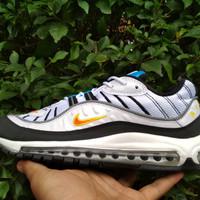 d723d0c4a3 Sepatu Nike air max 98 Og White Deep Orange Black Premium High Quality