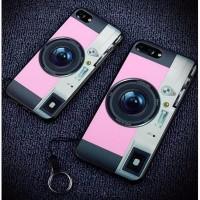 jual Casing Softcase Motif Kamera iPhone 7 Pink