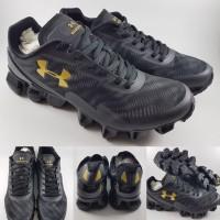 Sepatu Lari Under Armour Scorpio II 2 Running Jogging Black Gold Hitam 9d72a7685b