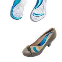 insole gel pad sepatu / bantalan kaki gel silicone / alas tumit kaki