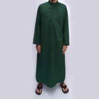 Jubah Arab Hijau Botol / Gamis Pria Dewasa / Baju Muslim FJ020