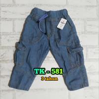 Celana anak laki jeans cargo 3 tahun