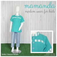 (2-3 tahun) size S Tosca Stripe Koko Anak Mamanda Baju Muslim Anak