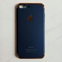 Casing HP Unik 3in1 case Apple Logo Iphone 7 Plus 8 Plus Blue Navy