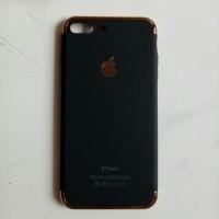 Casing HP Unik 3in1 case Apple Logo Iphone 7 Plus 8 Plus Black Hitam