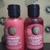 Shampoo dan Conditioner strawberry the body shop