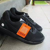 Sepatu sekolah anak unisex full hitam merk nike