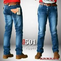 CELANA LEVIS 501 SOBEK CAKAR 001, celana pria jeans wanita ready Limit