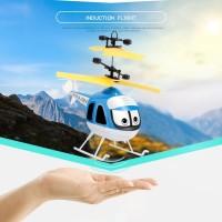 Mainan Helikopter Sensor Tanpa Remote Anak Super Led  Aman